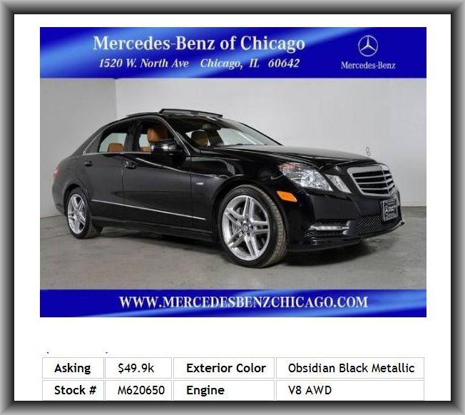 2012 MercedesBenz EClass E550 4MATIC Luxury Sedan