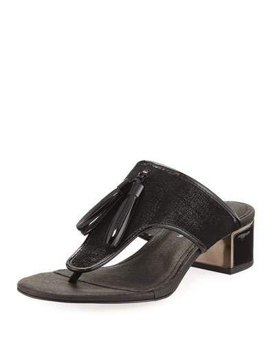 A F Vandevorst Two strap Sandals BLACK gjP73aym