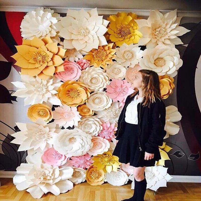 44pcs set handmade cardboard giant paper flowers wedding backdrop 44pcs set handmade cardboard giant paper flowers wedding backdrop background decorations flores artificiais para decora o mightylinksfo