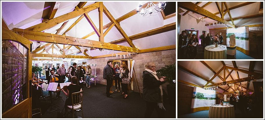 Heaton House Farm Open Evening Exclusive Booked S October 2017 Entrance Barn Pink Up Lighting Fairy Lights Oak Beams Bunting