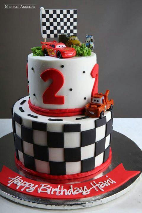Cars cake the cars pinterest tortilla cumplea os y for Decoracion de tortas faciles