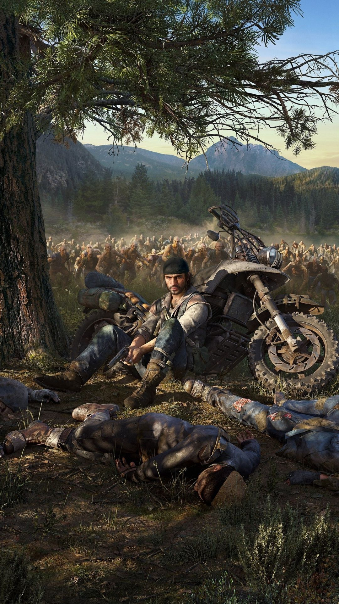 Biker Days Gone Video Game Zombies Attack 1080x1920 Wallpaper