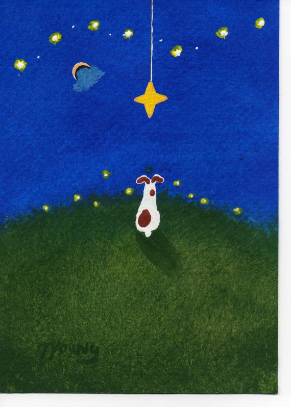 Jack Russell Terrier Dog Modern original folk art by ToddYoungArt, $34.95
