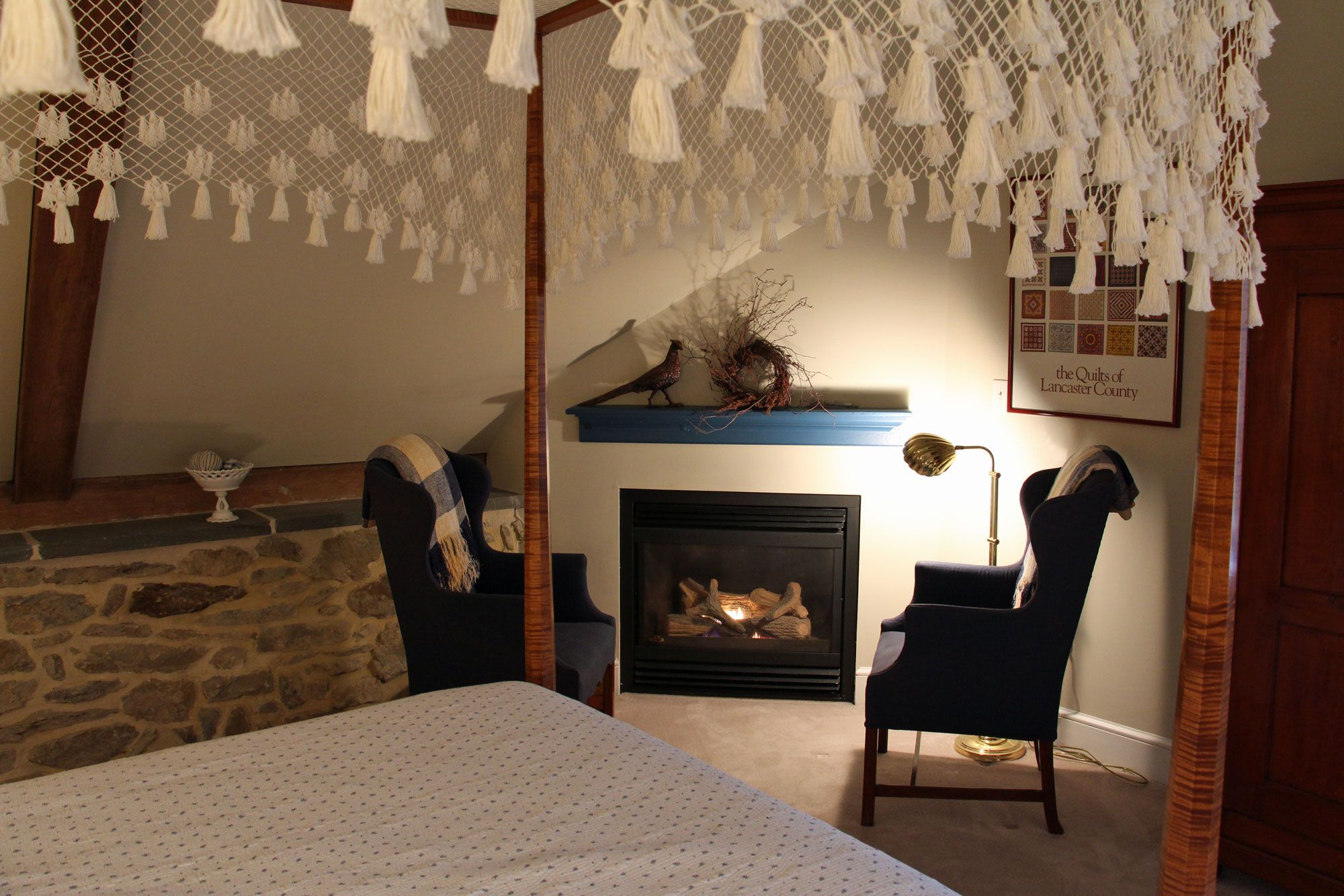 Cozy Interiors of Pheasant Run Farm Bed & Breakfast Bed