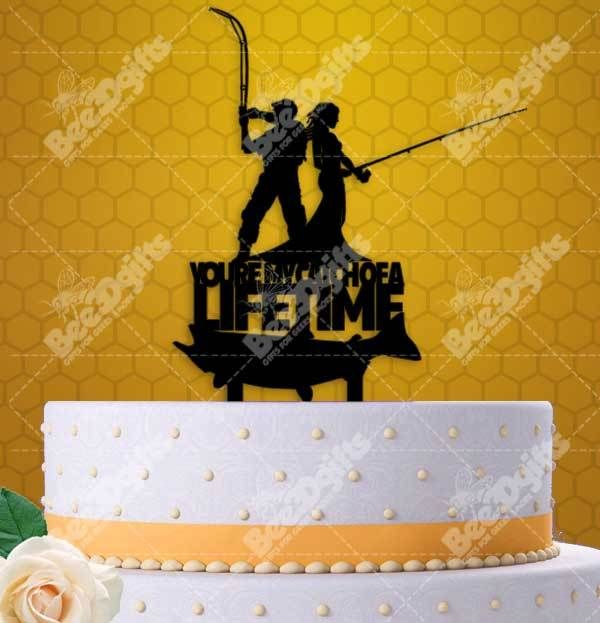 You\'re My Catch Of A Lifetime Fishing Couple Cake Topper | Wedding ...