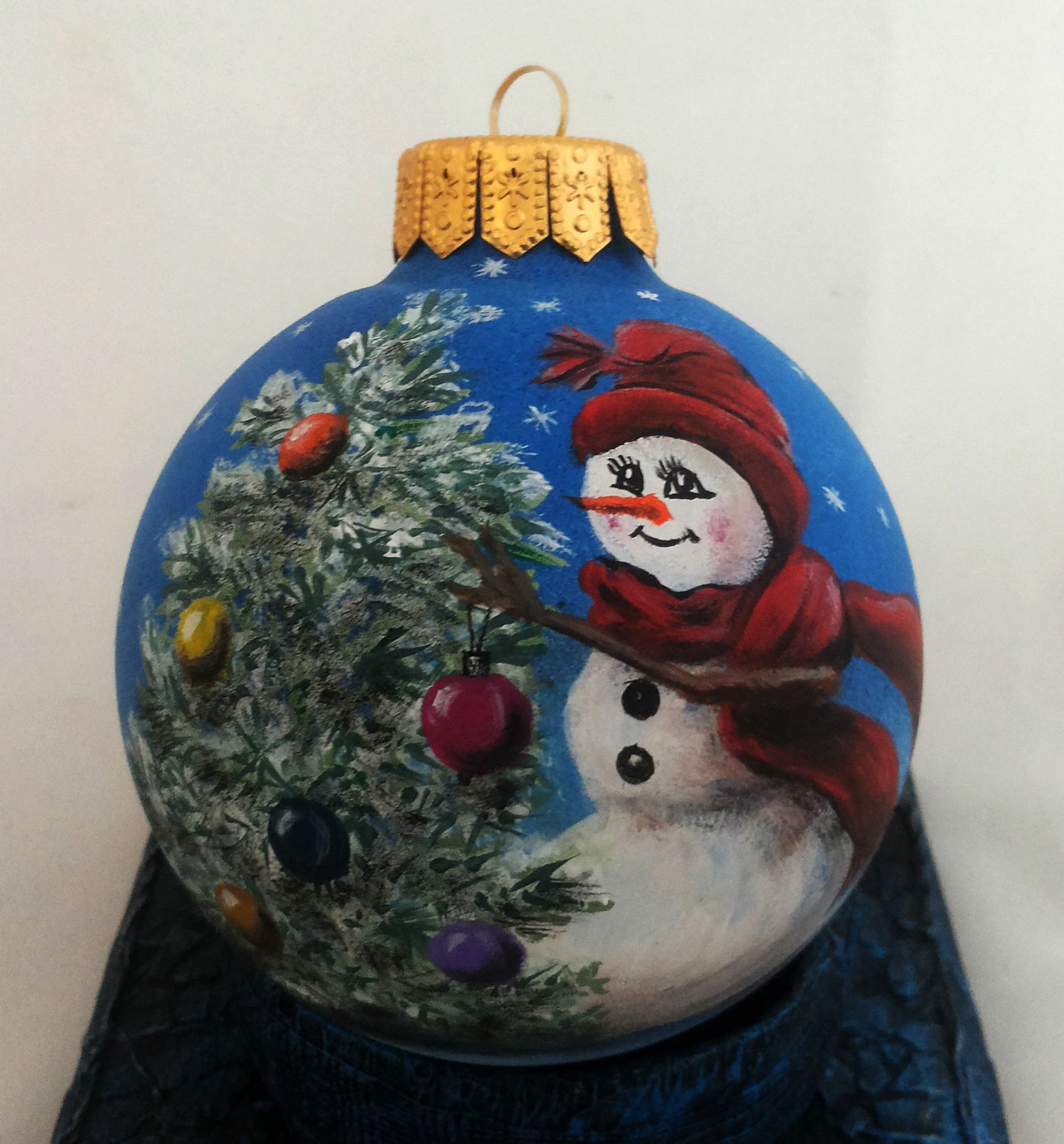 Custom Order Hand Painted Christmas Ornament By Julia Moshack Jan Art Christmas Gla Painted Christmas Ornaments Christmas Ornaments Hand Painted Ornaments