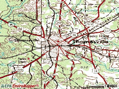 Thomasville Georgia Map.Thomasville Topographic Map Vacation In The South In Thomasville