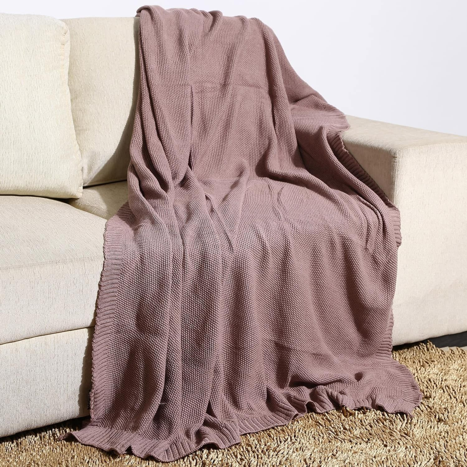 Affinity 100 Persent Moss Knit Oversized Throw