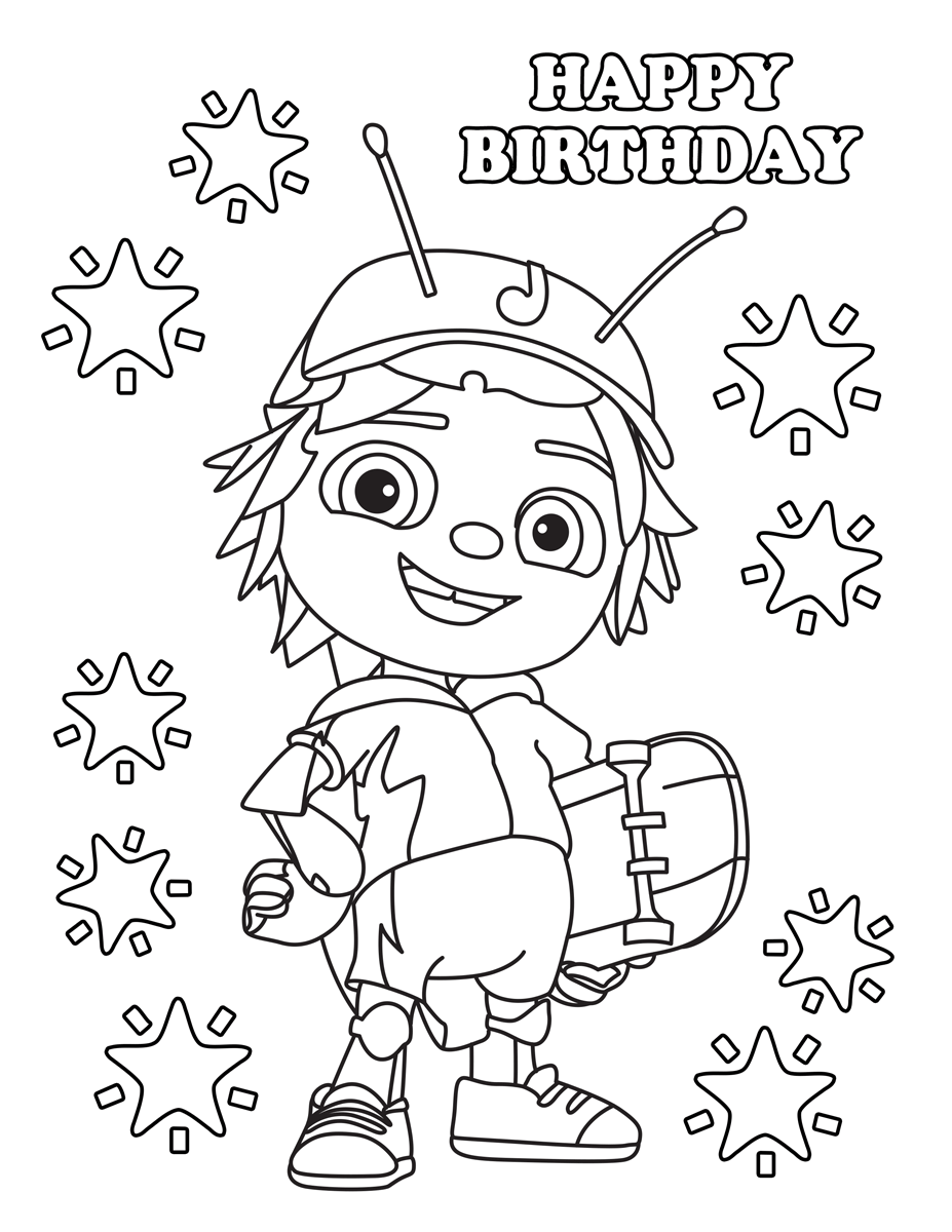 beat bugs coloring pages Beat Bugs | Birthday Boy | Birthday parties, Birthday, 2nd  beat bugs coloring pages
