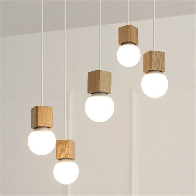 Find More Pendant Lights Information About Modern Oak Wood Pendant