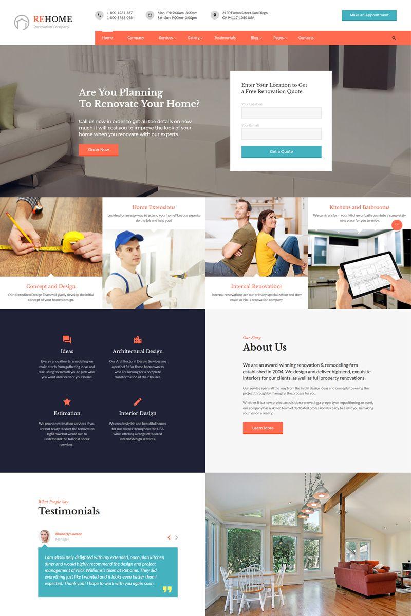 Rehome Home Renovation Modeling Multipage Html Website