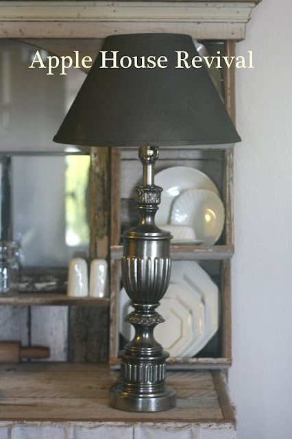 Paint brass lamp using krylons looking glass spray