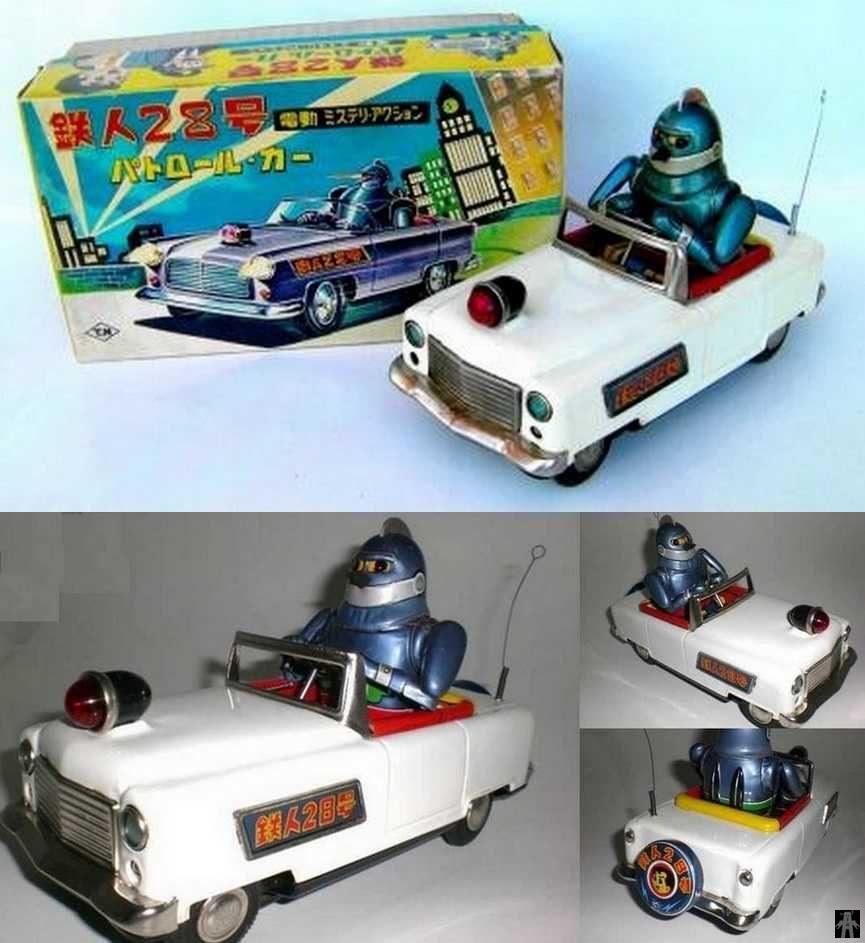 Toys car battery  Nomura Tetsujin  Patrol Car Battery Operated tin toy s