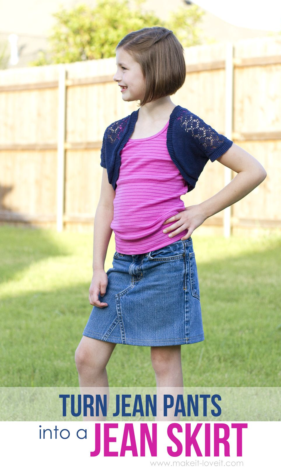Turns Jeans into Skirts: How to Make DIY Skirts Out of ...