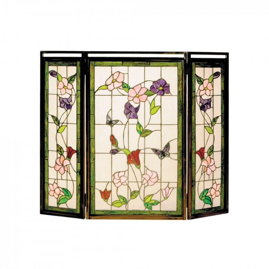 Dale Tiffany Wortham Fireplace Screen in Antique Bronze ...