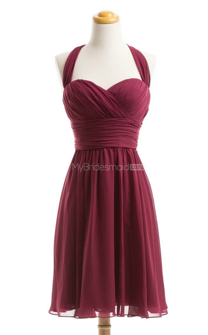 Exquisite Burgundy Short Bridesmaid Dress Dresses