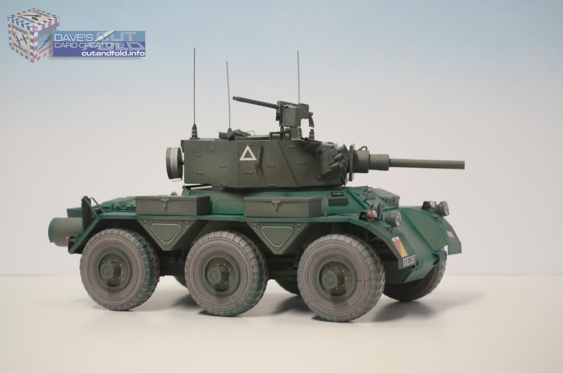 1/16 scale Saladin Armoured Car Paper Model   by Dave