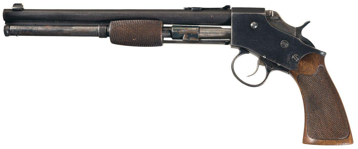 "peashooter85: "" An unusual pump action pistol, .22 caliber ..."
