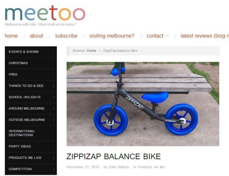 Mee Too Zippizap Balance Bike Review Bike Reviews Balance Bike