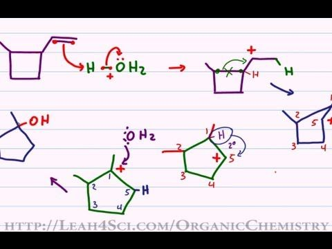 Hydride Shift. Ring Expansion. Carbocation Rearrangement. ALL IN ONE Example. #Orgo #StudyTips   Organic chemistry. Chemistry. Study tips