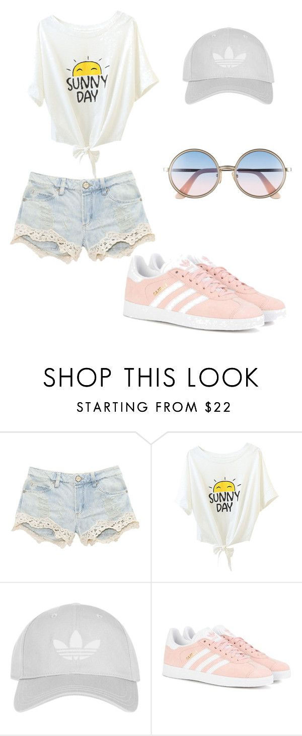"""Untitled #6"" by icecreamarble ❤ liked on Polyvore featuring Topshop, adidas Originals and Sunday Somewhere"