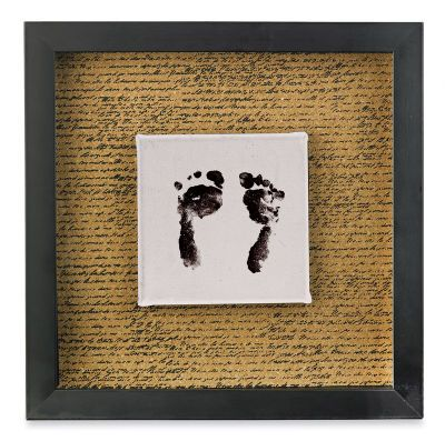 Footprint Shadow Box Maybe I Could Dig Out The Kids Baby Footprints From Their Baby Books Photo Copy And Make Baby Footprints Shadow Box Mother S Day Diy