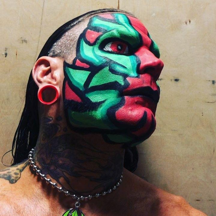 Jeff Hardy Facepaint green red   Wwe jeff hardy, Jeff ...Jeff Hardy Wrestlemania 25 Face Paint