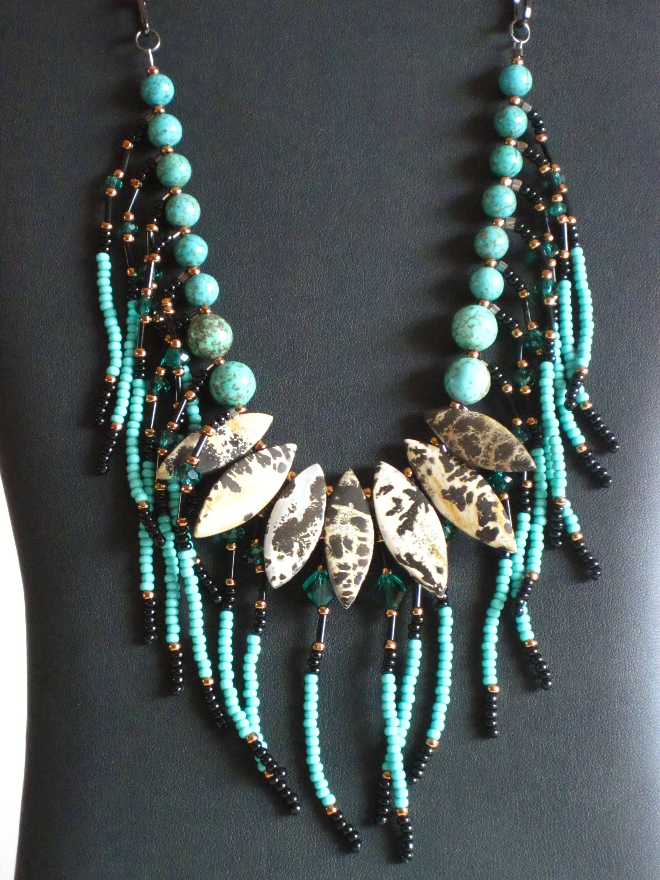 navajo american by kingman turquoise front bea tom necklace native