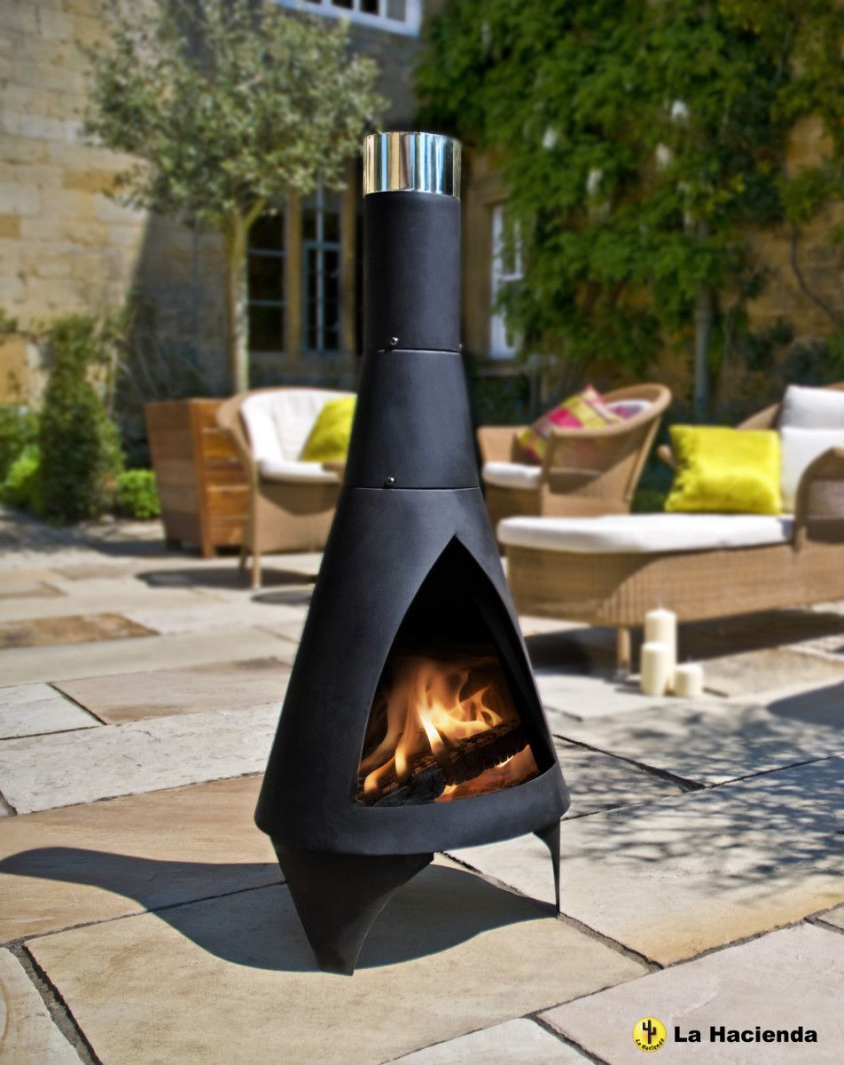 la hacienda colorado steel chiminea  reviews  wayfair  outdoor  - la hacienda colorado steel chiminea  reviews  wayfair