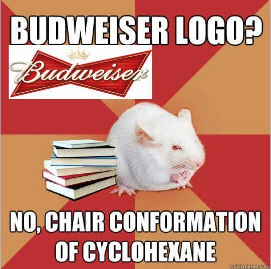 Is that a budweiser logo? Nahhh! It's Chair conformation ...