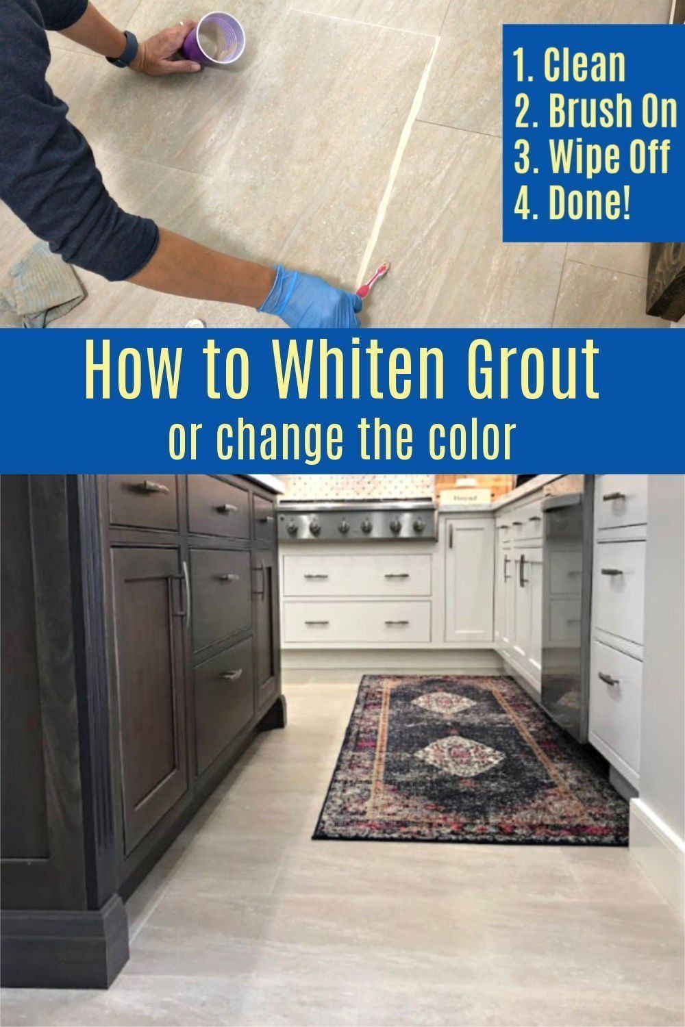 How to Whiten Tile Grout Easy DIY Grout Makeover Tile