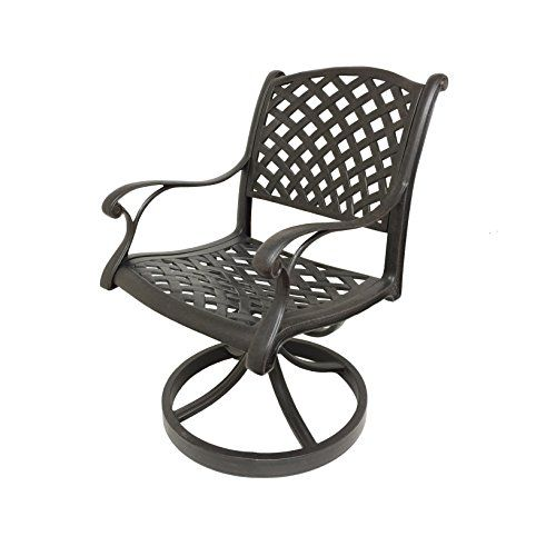 nevada cast aluminum swivel rocker chairs with sunbrella cushions rh pinterest com au