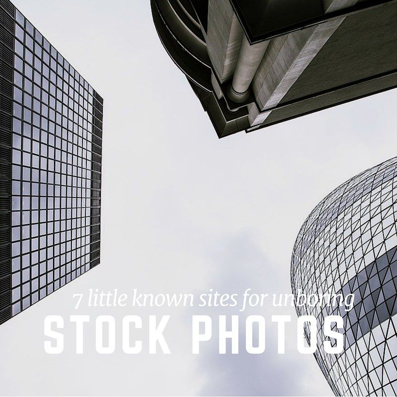 7 Little Known Sites for Unboring Stock Photos Stock