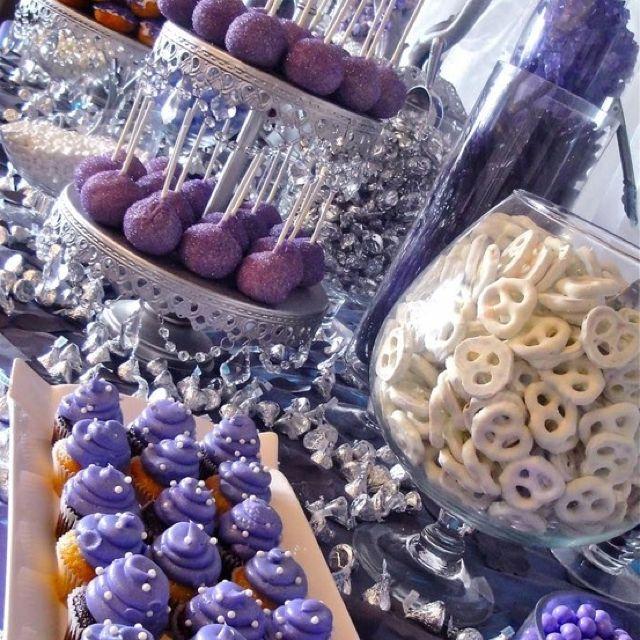 Beschrijf je pin...purple sweet treat table