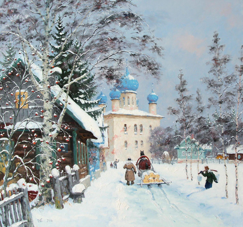 Новогодние открытки зимний пейзаж ростов великий
