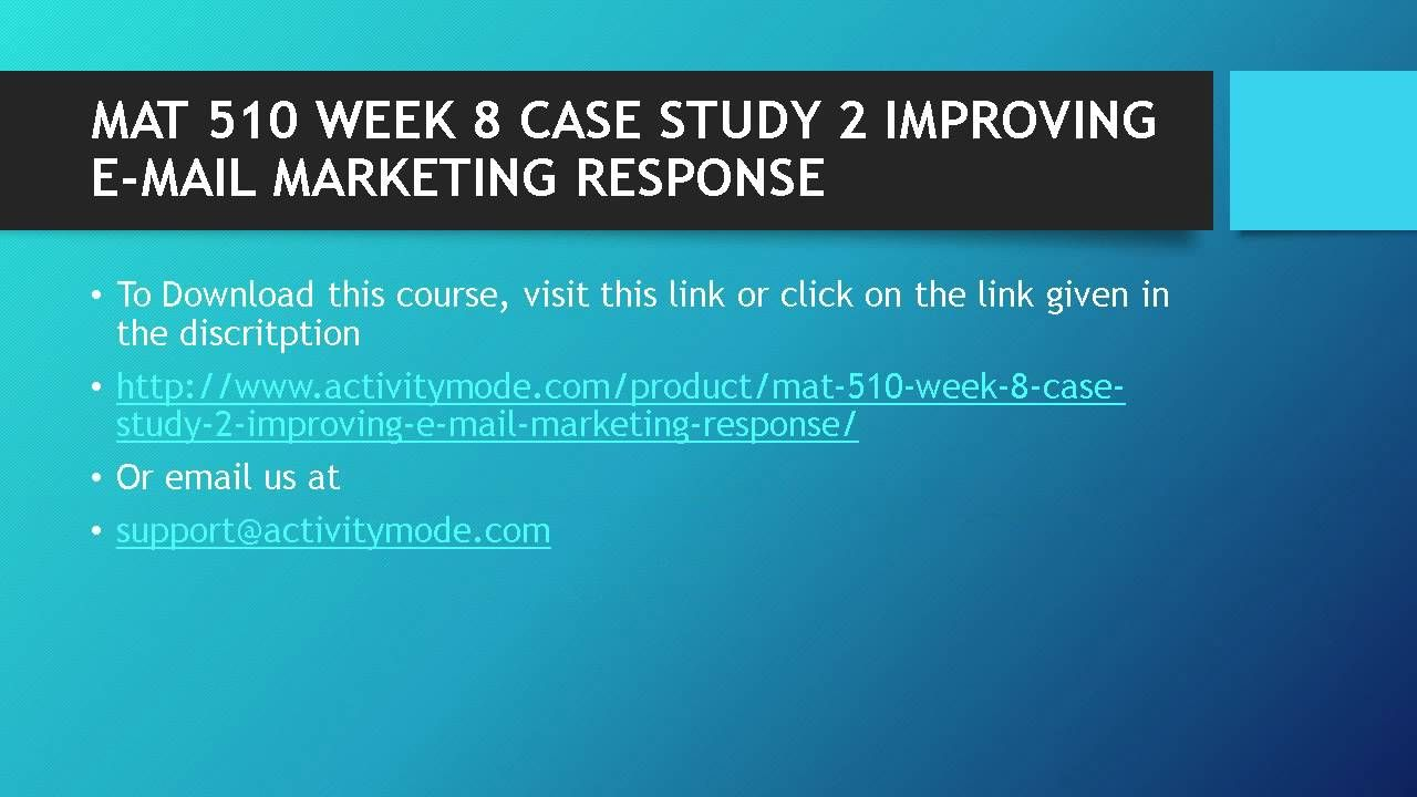 week8 final case study Case study – election results when an election for political office takes place, the television networks cancel regular programming and instead, provide election coverage when the ballots are counted, the results are reported.