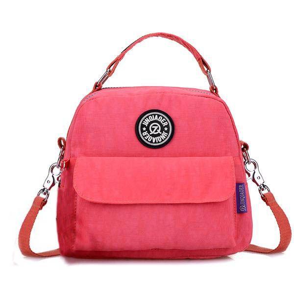Women Multifunctional Nylon Bags Casual Light Handbags Waterproof Shoulder Bags Backpack