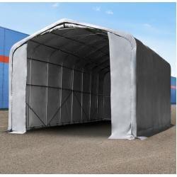Photo of Zelthalle 6x12m Pvc 720 g/m² grau wasserdicht Industriezelt Toolport