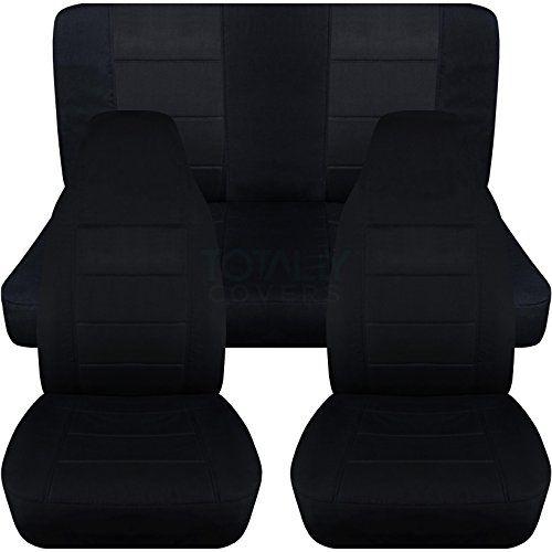 1997 2006 Jeep Wrangler Tj Seat Covers Black Full Set Front