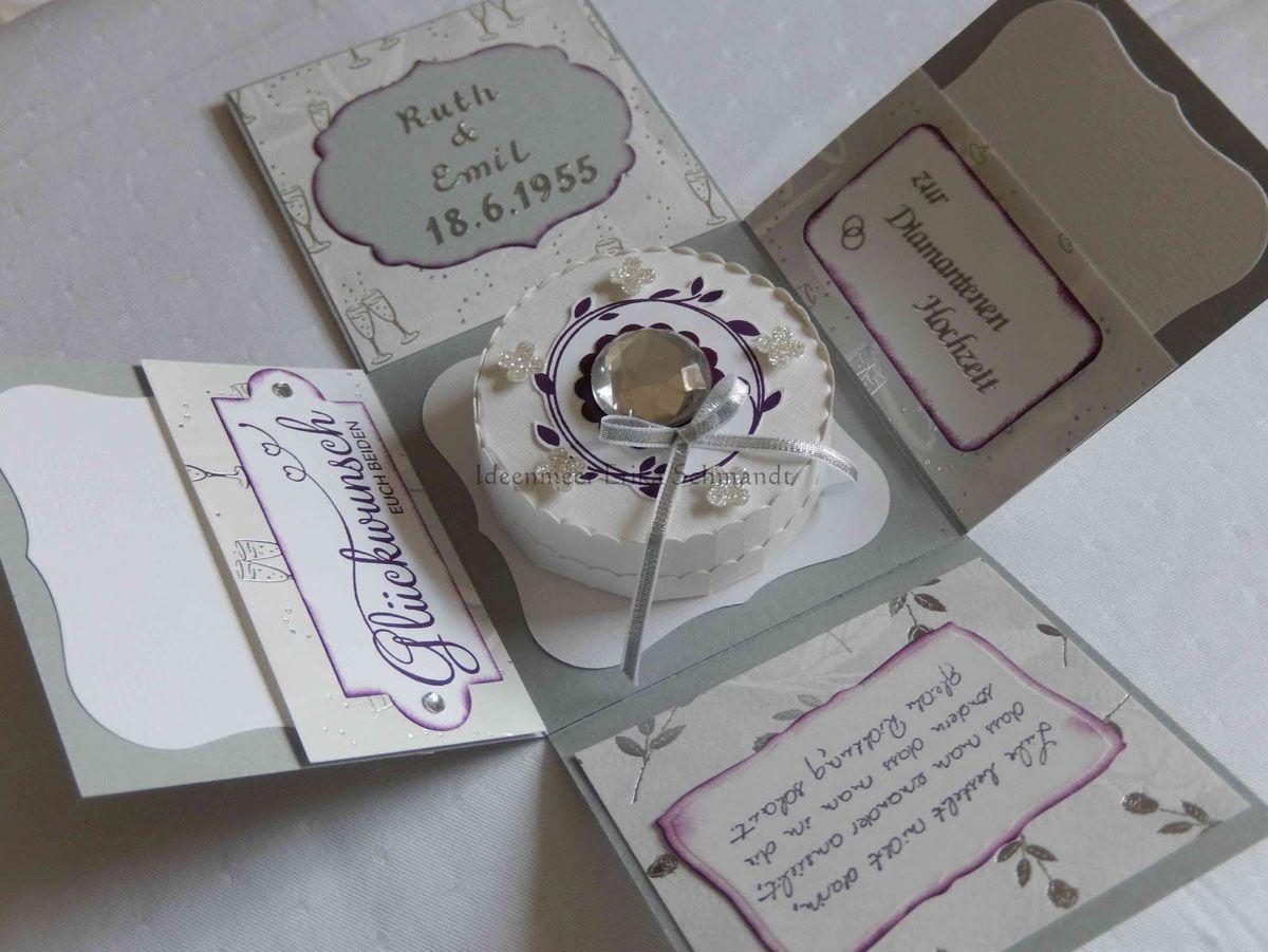 Hochzeit einladung muster diamantene Einladung Diamantene