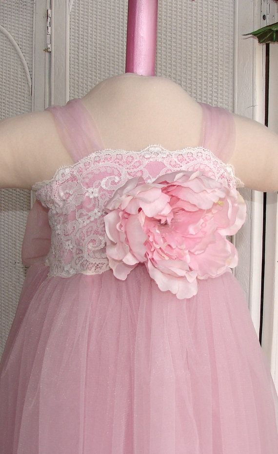Girls Beautiful Vintage Inspired  Lace & Tulle  by NanaKStitches, $74.00