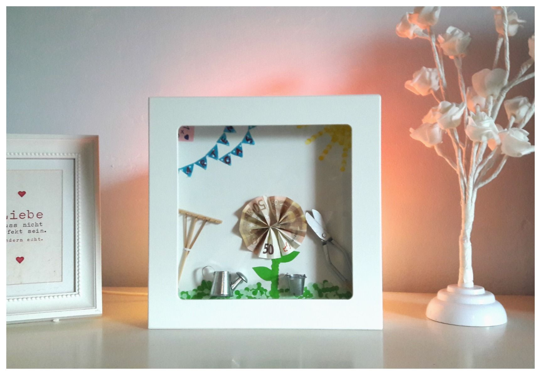 3D-Bilderrahmen - Spardose zum Selbergestalten | Pinterest ...