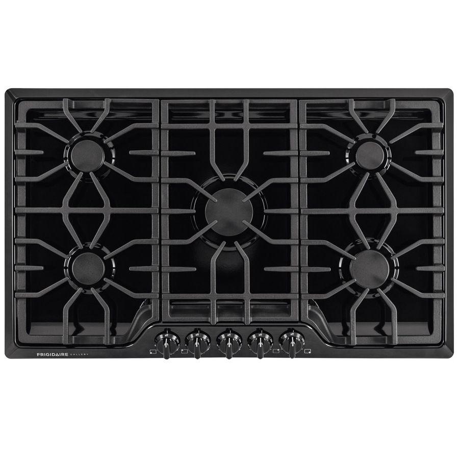 Frigidaire gallery 36in 5 burners black gas cooktop lowes