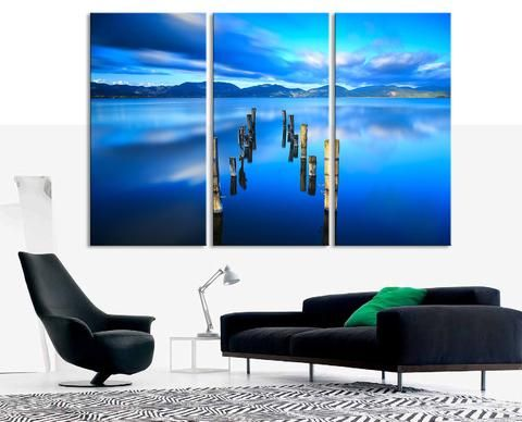 LARGE CANVAS ART - Beach on Sunset and Palm on the Island Canvas Art ...