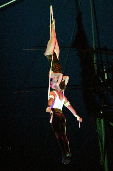 Duo Adamo: (Andrew Adams & Erika Gilfether, Aerial Straps) at Circus Flora (2008)