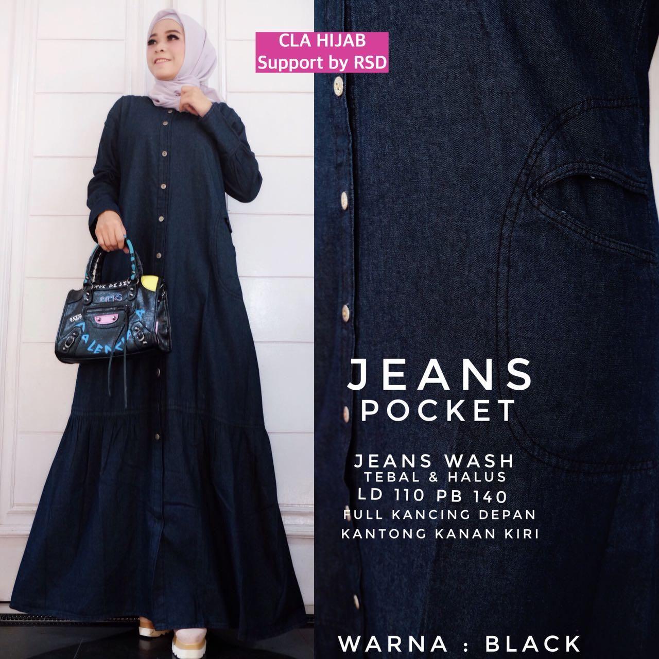 Model Baju Gamis Jeans Terbaru Jeans Model Baju Muslim