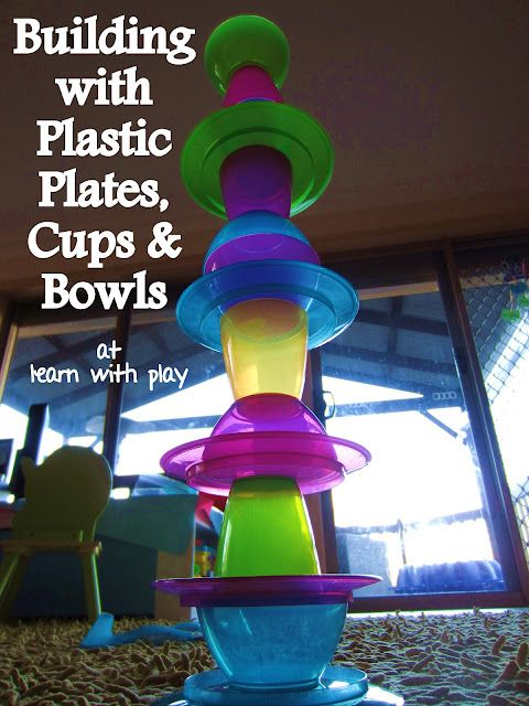 Building with Plastic Plates, Cups and Bowls