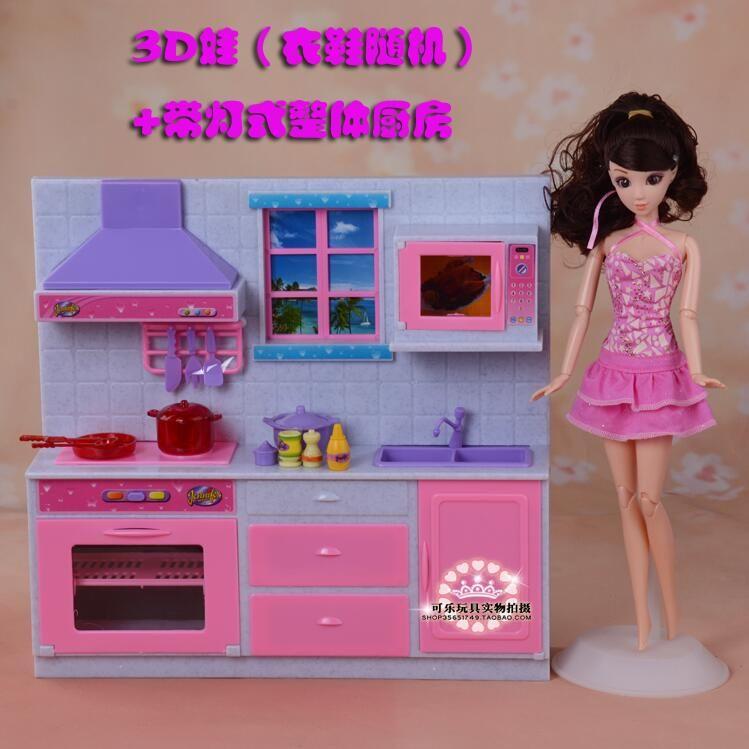 Case For Barbie Kitchen Furniture Set Gift Box Fantastic Kitchen