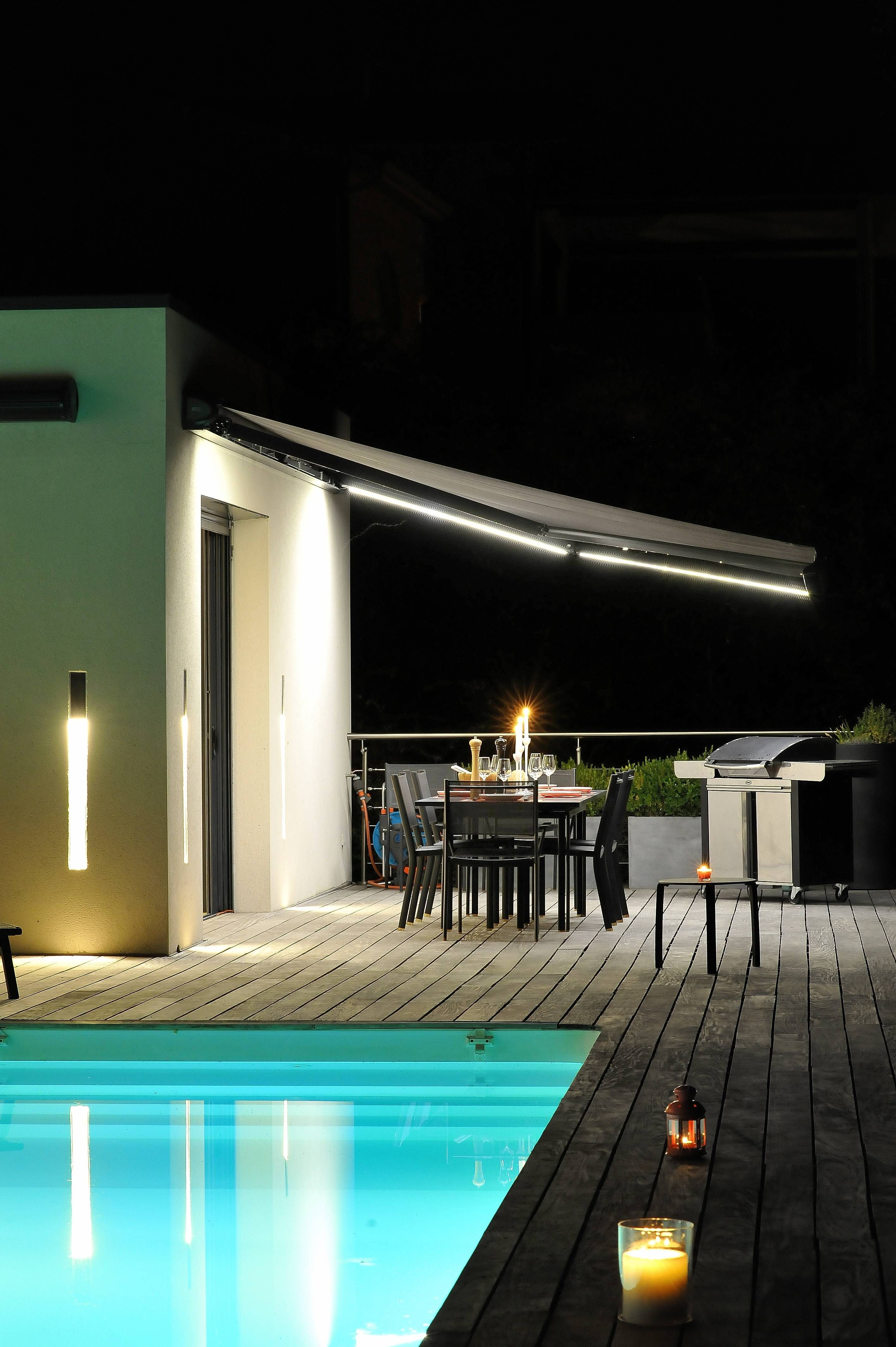 Eclairage Led Terrasse Store Pour Terrasse Avec éclairage Led Outdoor By Night