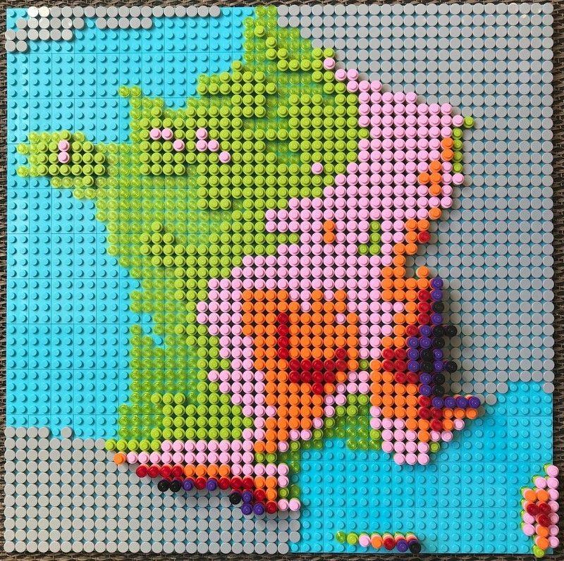 Comment réaliser une carte (géographique) en Lego ? Voici 2